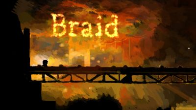 A screen capture of Braid. Honestly, this game is mind-blowing.