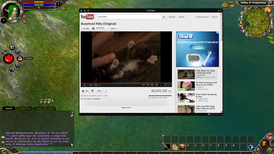 Video Game Add-on Application - Overwolf's Youtube overlay