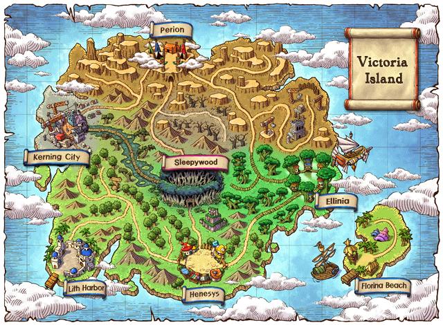 Maplestory world map.