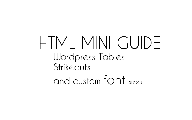 Wordpress HTML Guide