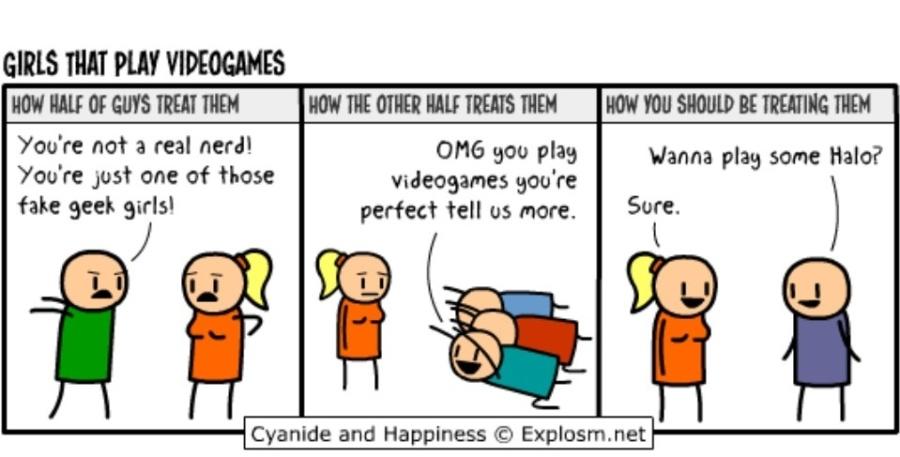 Be a girl gamer